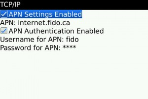 APN Settings Screenshot